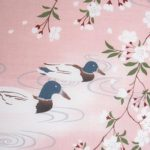 Sakura and Love Birds Tenugui (currently out of stock)